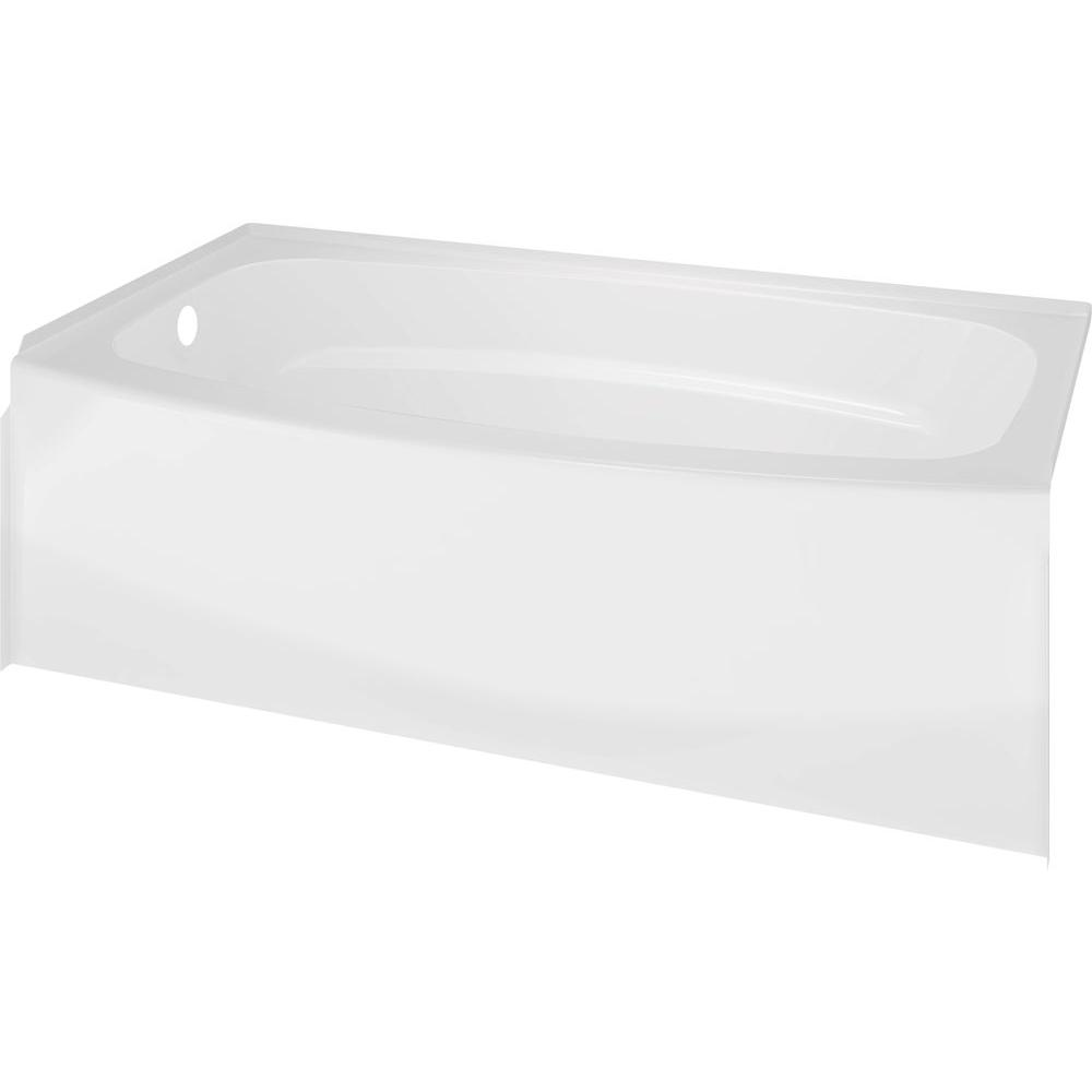 Classic 400 Curve 5 ft. Left Drain Soaking Tub in White