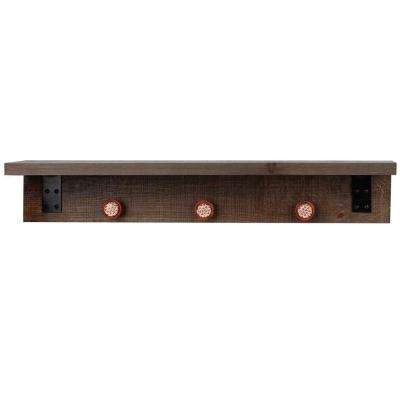 Hobbitholeco 30 in. W x 6 in. Wood and Metal Shelf