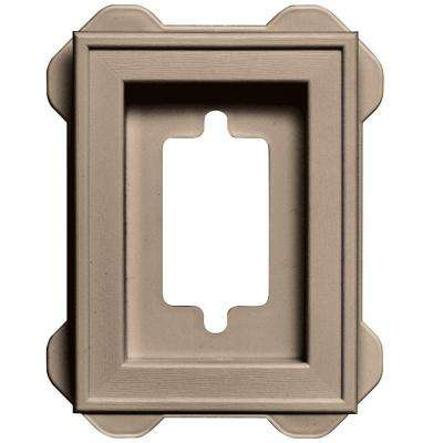 4.5 in. x 6.3125 in. #023 Wicker Recessed Mini Mounting Block