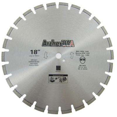 18 in. Diamond Blade for Asphalt Cutting