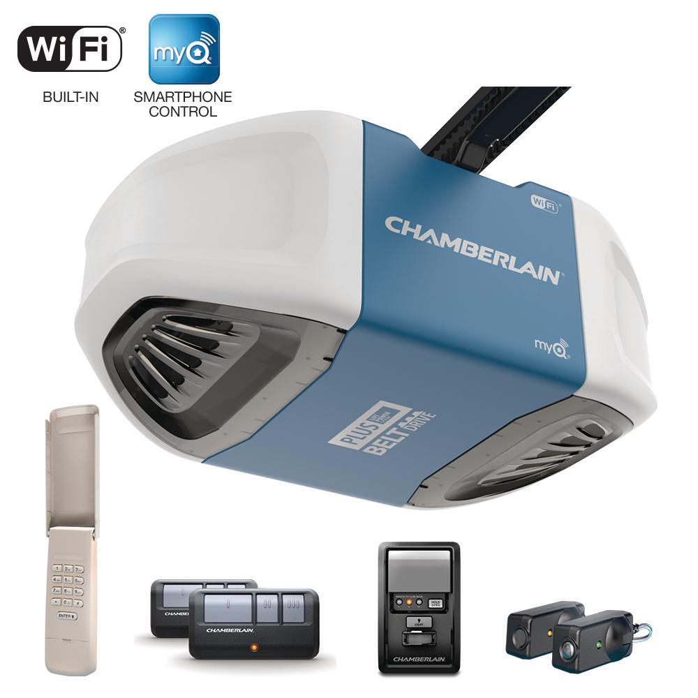 Chamberlain 3/4 HP Equivalent Ultra-Quiet Belt Drive Smart Garage Door Opener