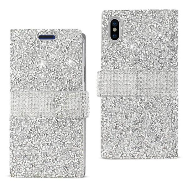 iPhone X Rhinestone Case in Silver