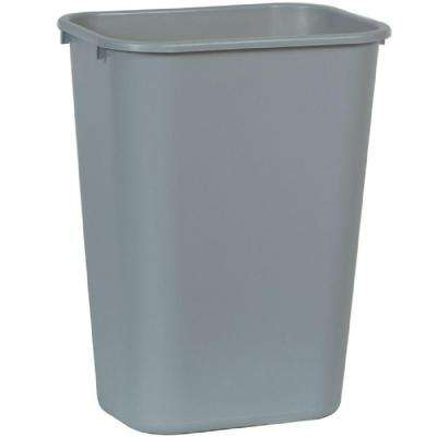 10.25 Gal. Grey Rectangular Trash Can