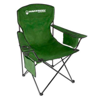 Green Oversized Heavy-Duty Camping Chair