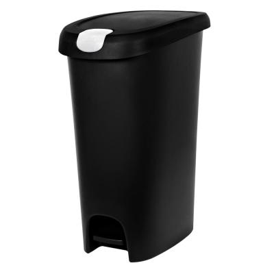 12 Gal. Slim Lockable Step-On Trash Can