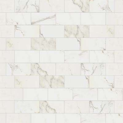 Developed by Nature Calacatta 3 in. x 6 in. Glazed Ceramic Wall Tile (0.12 sq. ft. / piece)