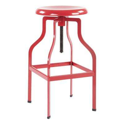 Birmingham 26 in. Red Counter Stool