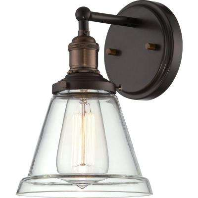 Glomar 1-Light Rustic Bronze Incandescent Sconce