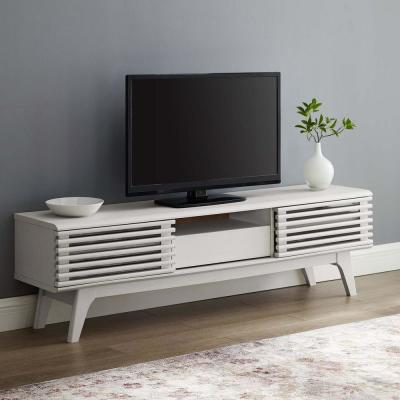 Render White 59 in. TV Stand