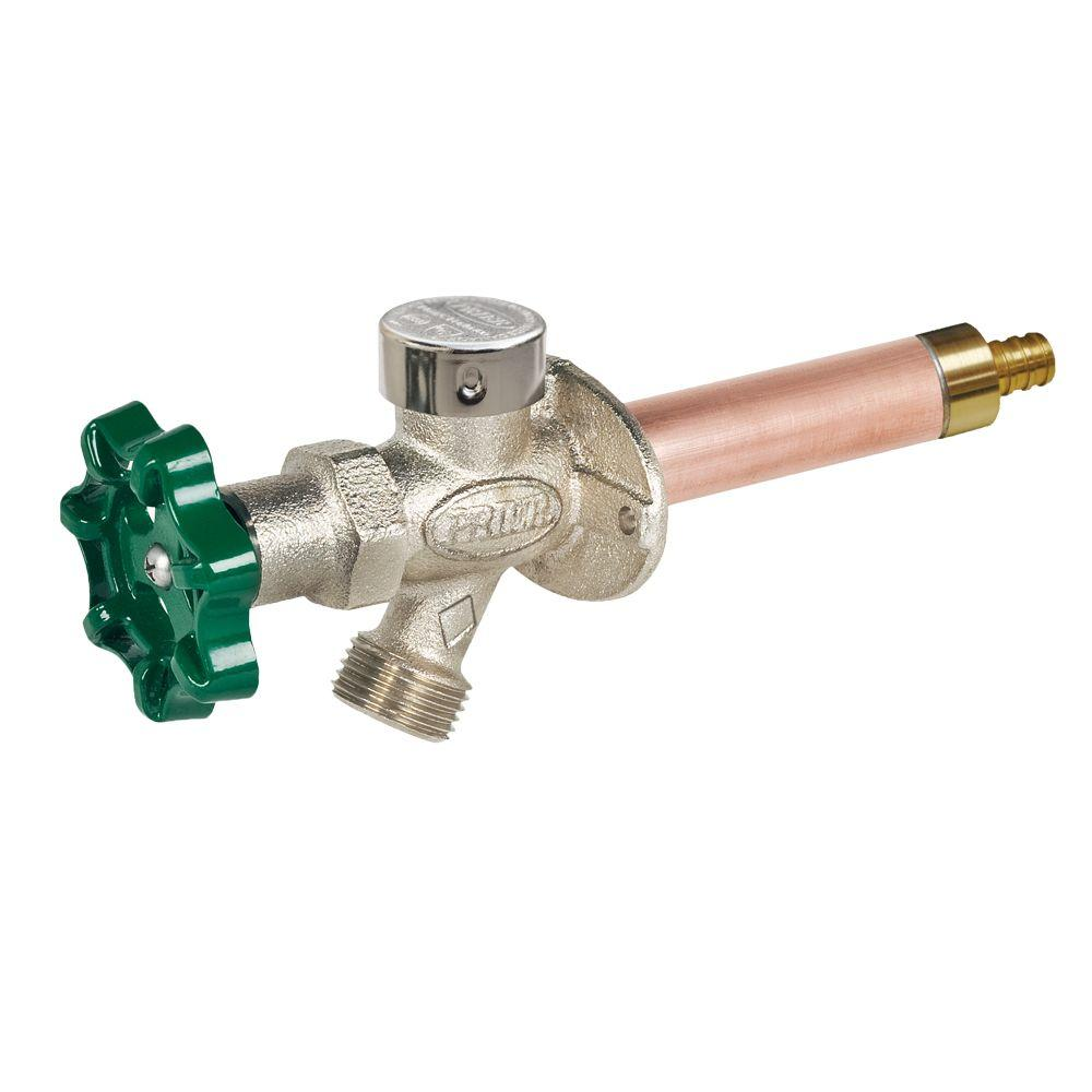 Prier Products 1/2 in. x 4 in. Brass Crimp PEX Heavy Duty Frost Free Anti-Siphon Outdoor Faucet Hydrant
