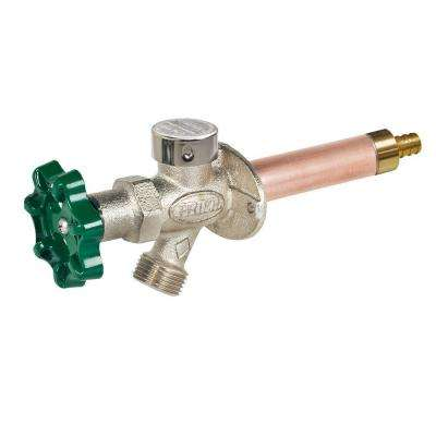 1/2 in. x 16 in. Brass Crimp PEX Heavy Duty Frost Free Anti-Siphon Outdoor Faucet Hydrant