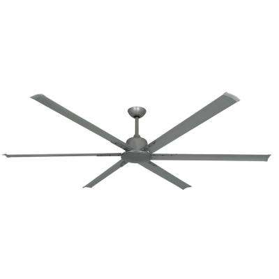 Titan II 84 in. Indoor/Outdoor Brushed Nickel Ceiling Fan with Remote Control