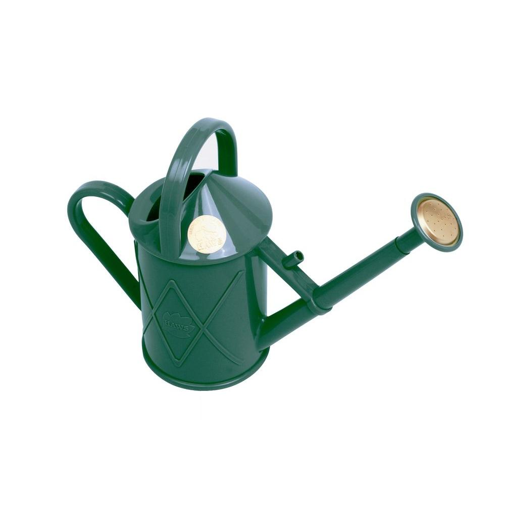 English Garden Heritage 0.25 Gal. Indoor Green Plastic Watering Can