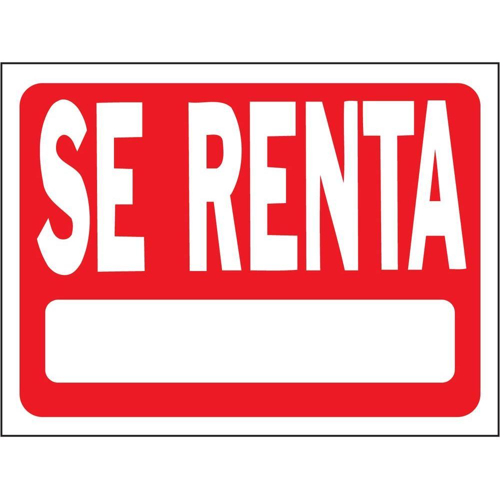 Rent Local: HY-KO 18 In. X 24 In. Plastic Se Renta Sign-21505