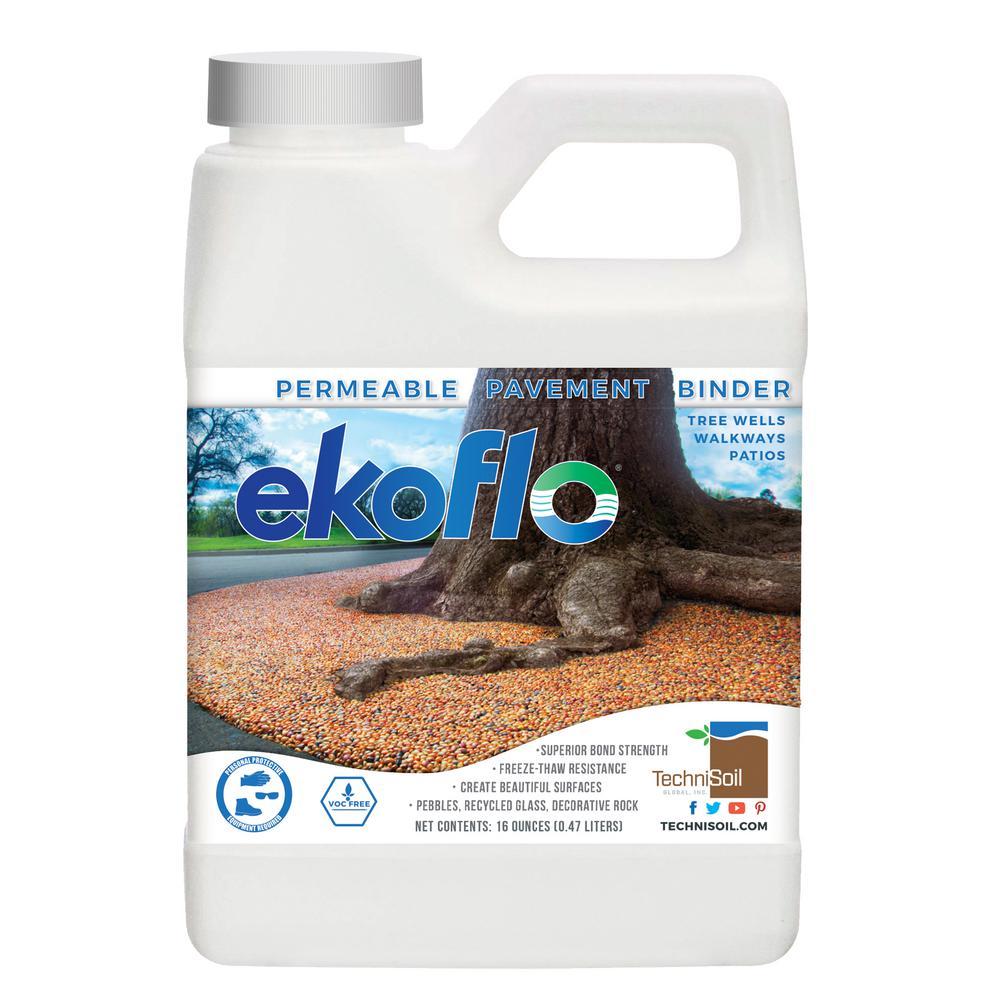 16 oz. EkoFlo Permeable Pebble Binder Bottle