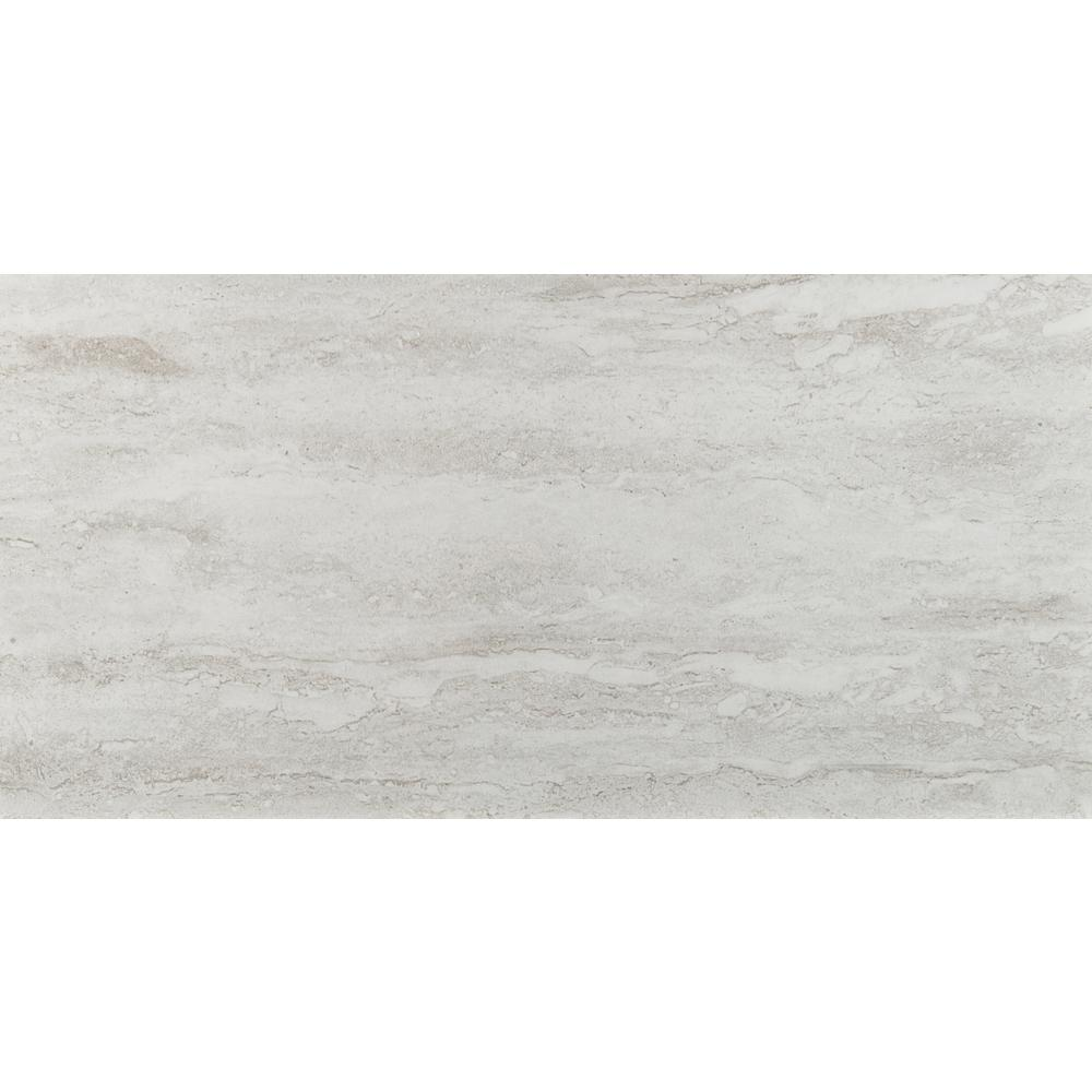 Msi Nyon Gray 12 In X 24 In Polished Porcelain Floor And