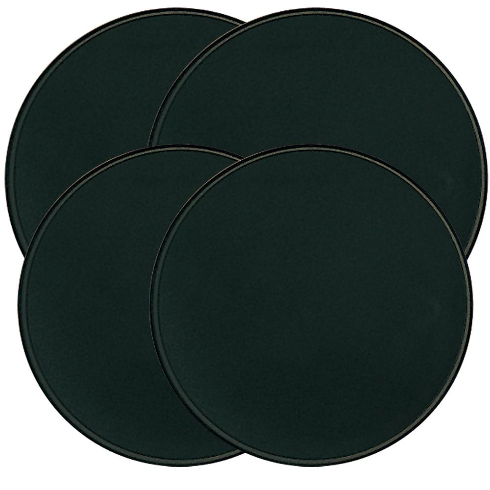 Range Kleen Round Burner Kovers in Black Range Kleen Burner Kovers Round - Black set of 4 keeps a clean and classic look in your kitchen. Keeps food debris from falling through to the drip pan when other burners are not being used. Works well as extra counter space when stove is not on.