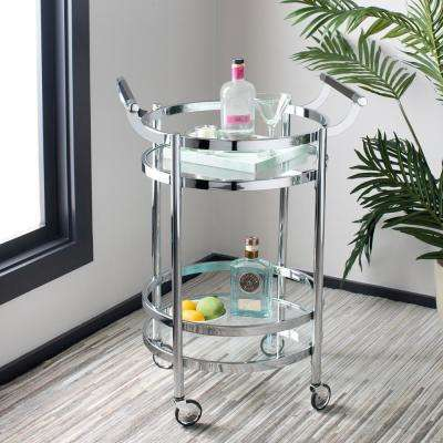 Sienna 2-Tier Chrome Bar Cart