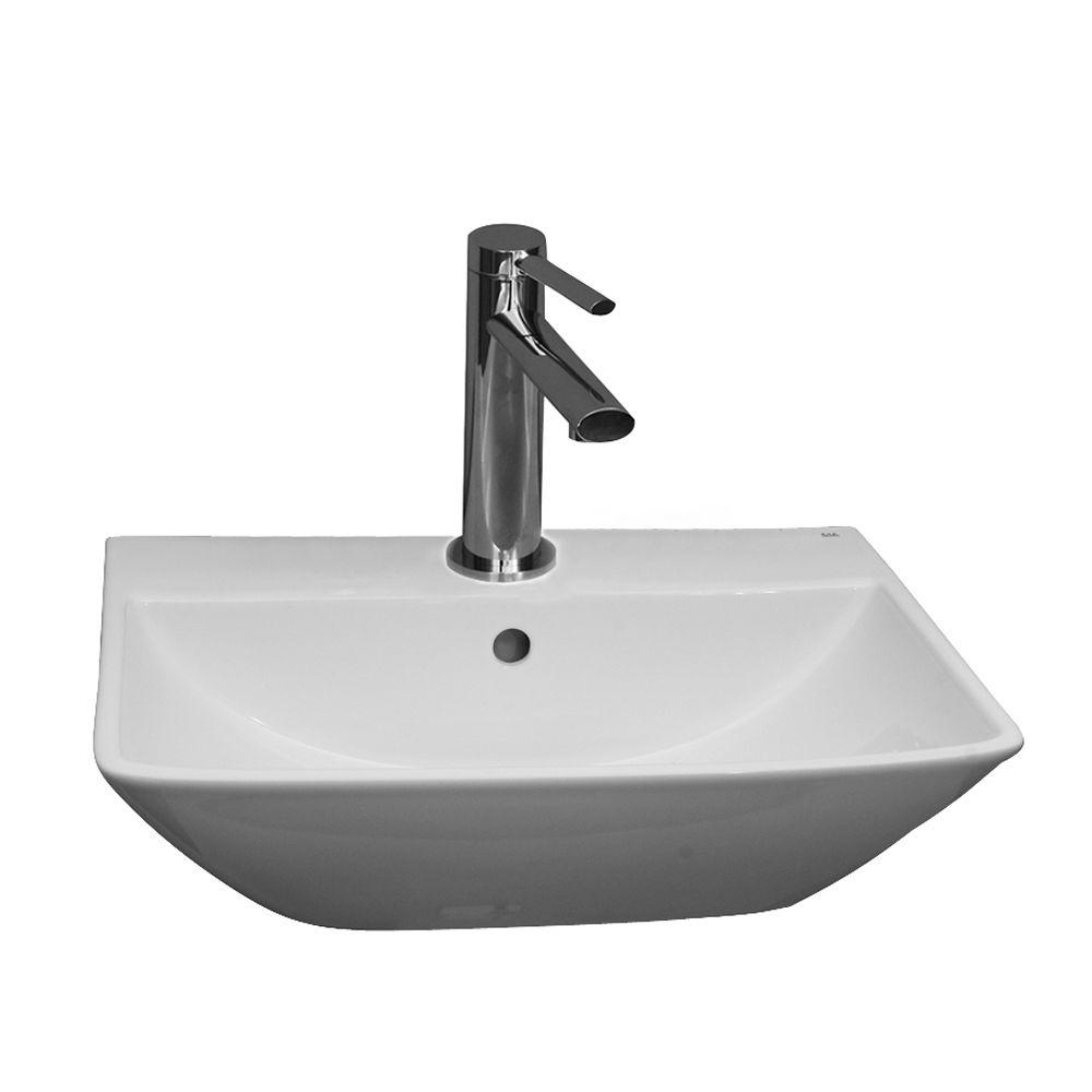 Barclay Products Summit 400 Wall-Hung Bathroom Sink In White-4-751WH