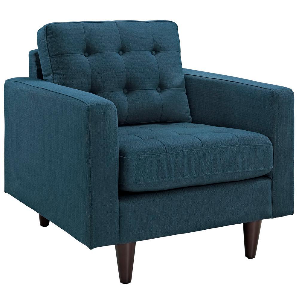 Empress Upholstered Armchair in Azure