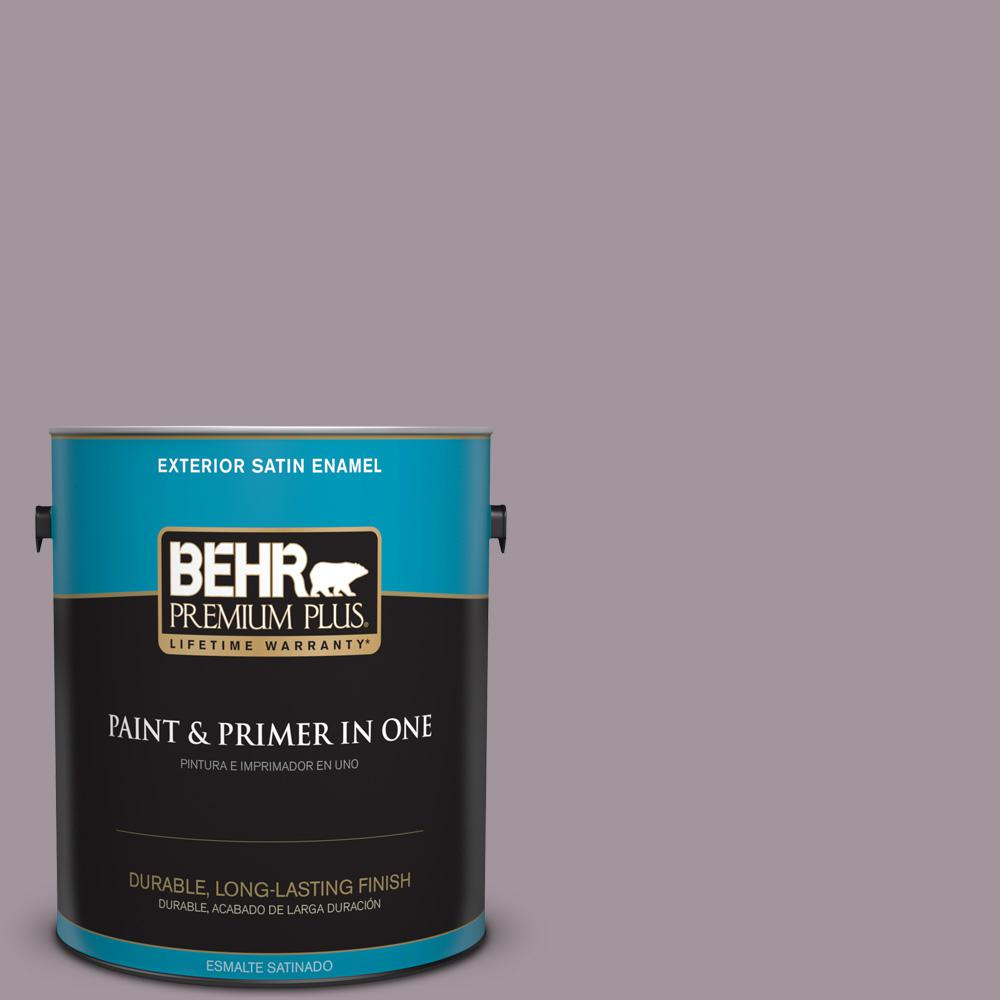 1 gal. #PPU17-13 Heather Plume Satin Enamel Exterior Paint