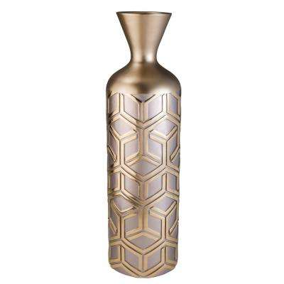 Savannah Rose Gold Polyresin Decorative Vase