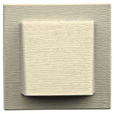 8 in. x 7.875 in. Water Management 4 in. Hooded Vent in Heritage Cream