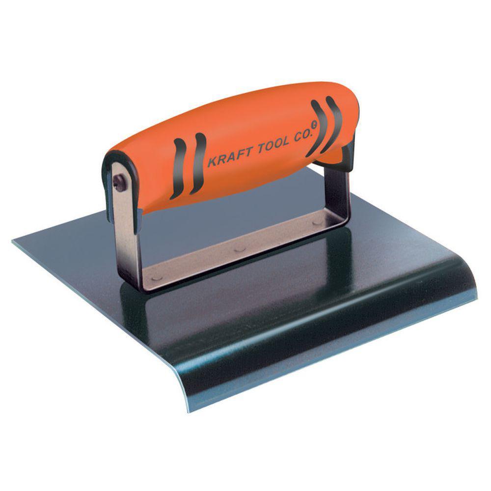 6 in. x 8 in. Blue Steel Hand Edger-Preform Handle