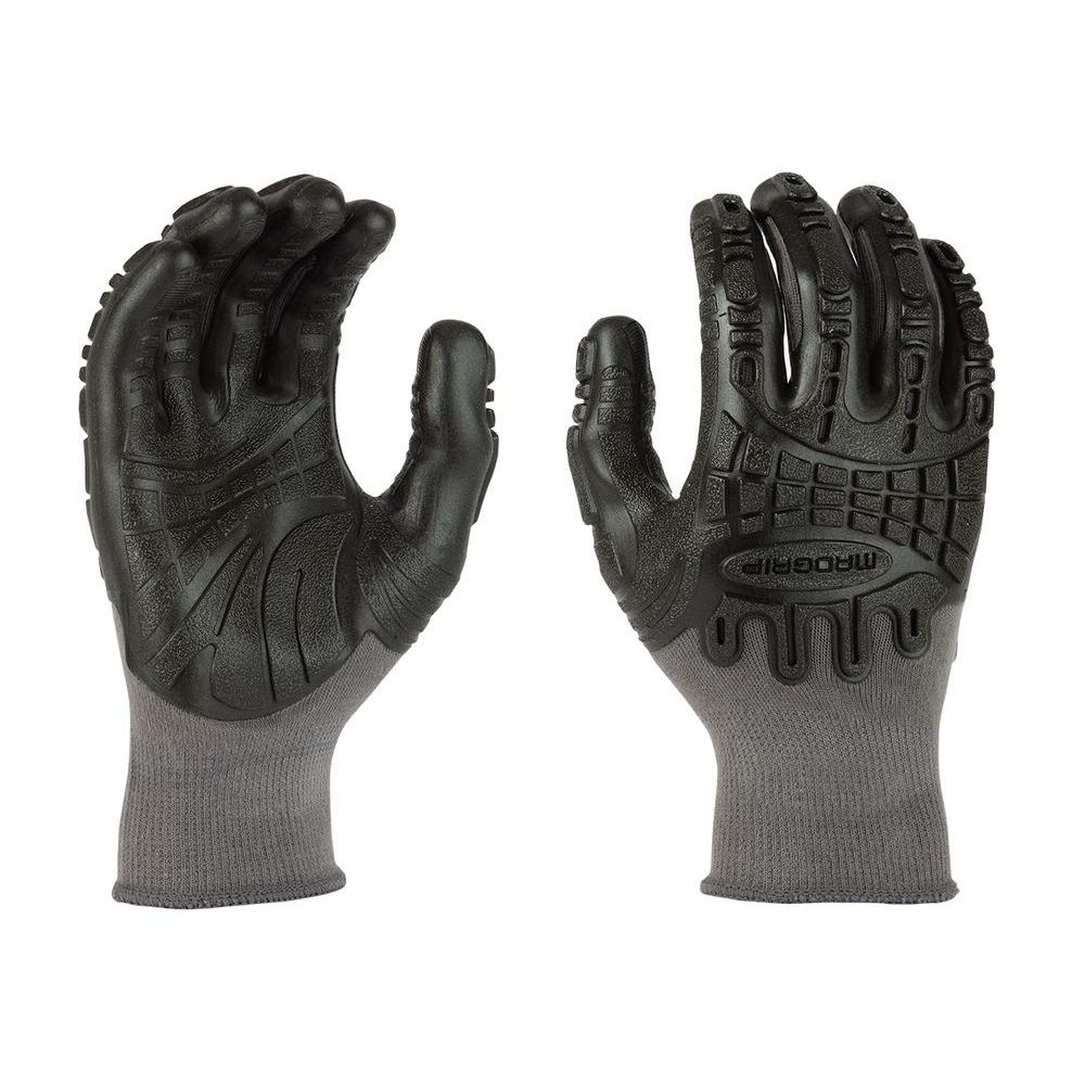 Mad Grip Thunderdome Impact Large Flex Glove in Grey/Black