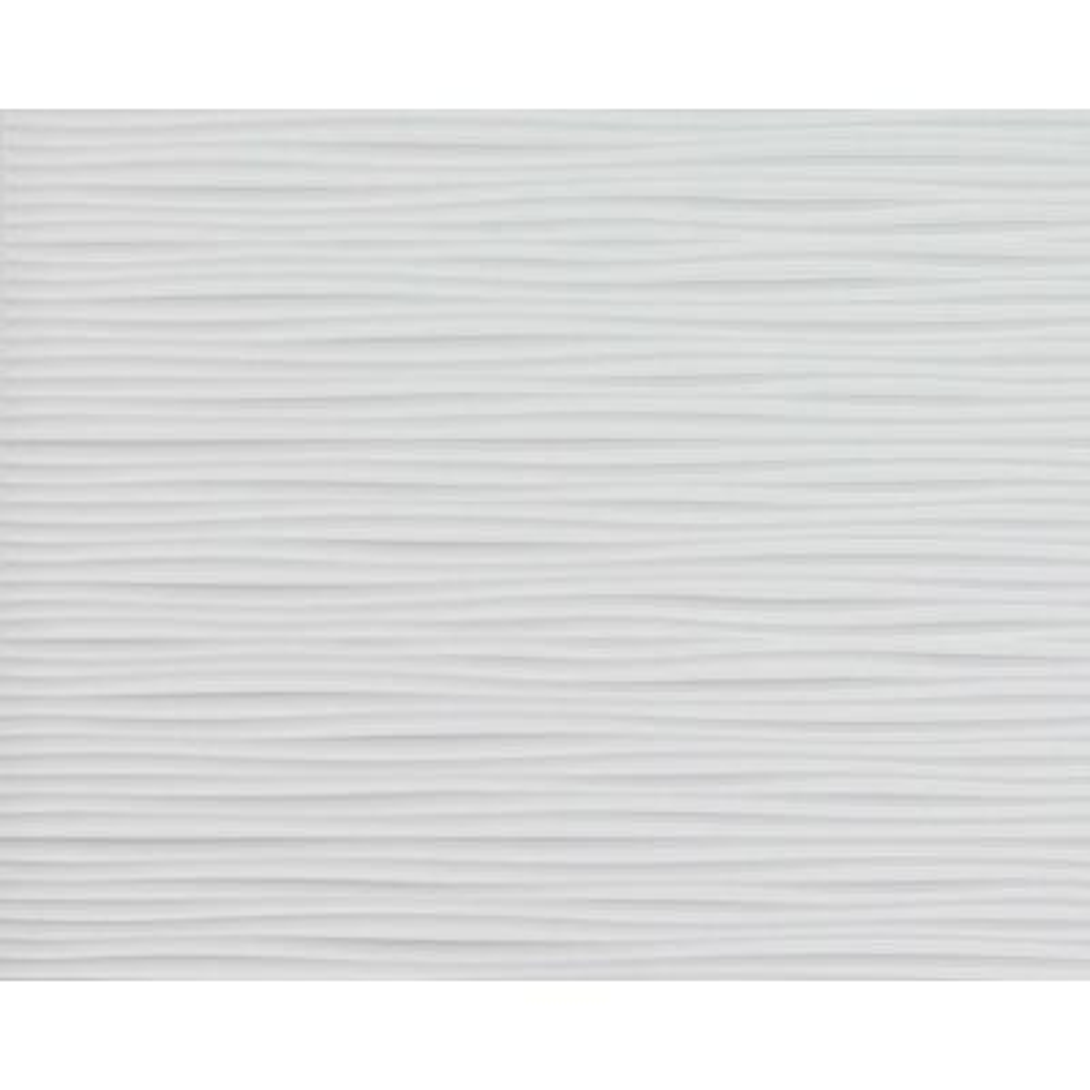 Wilderness 18.5 in. x 24.3 in. PVC Backsplash Panel in Snow White (9-Piece)