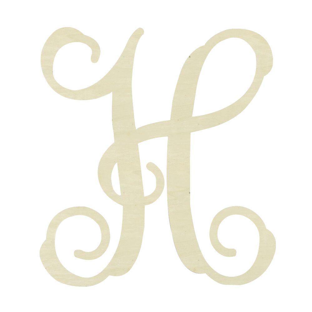 19.5 in. Unfinished Single Vine Monogram (H)