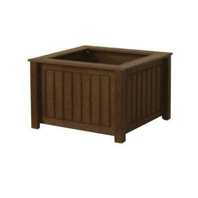 North Hampton 17 in. x 17 in. Brown Recycled Plastic Commercial Grade Planter Box