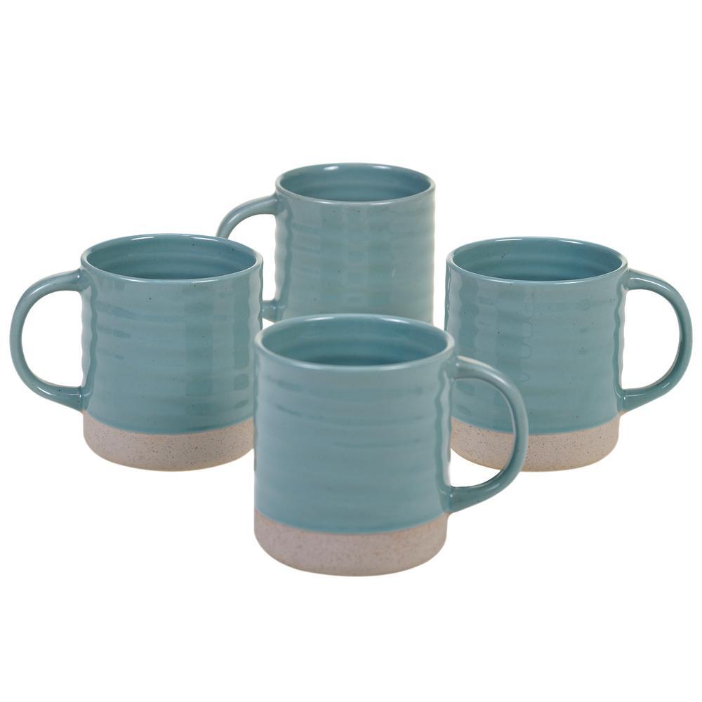 Certified International ArtisanTeal 22 oz. Teal Mug (Set of 4) 13829SET4