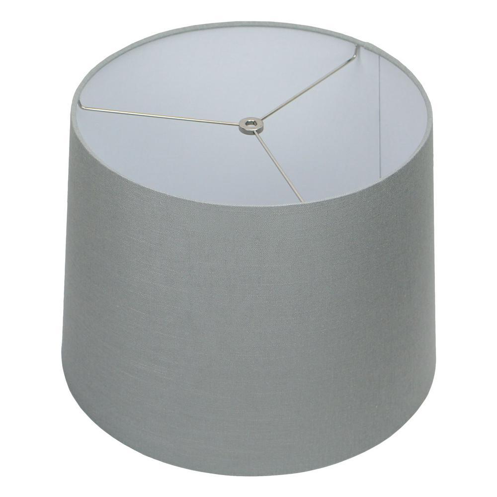 14 in. Top Diameter x 16 in. Bottom Diameter x 12 in. Slant Designer Linen Glacier Empire Lamp Shade