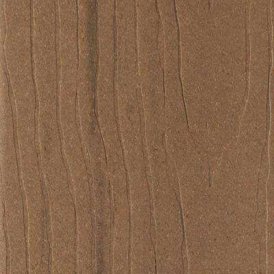 Vantage 1 in. x 5-3/8 in. x 1/2 ft. Tigerwood Composite Decking Board Sample