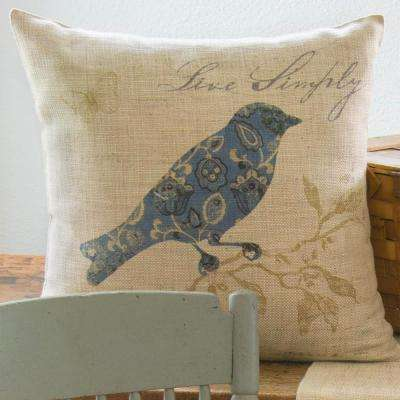Meadow Song Natural Decorative Pillow