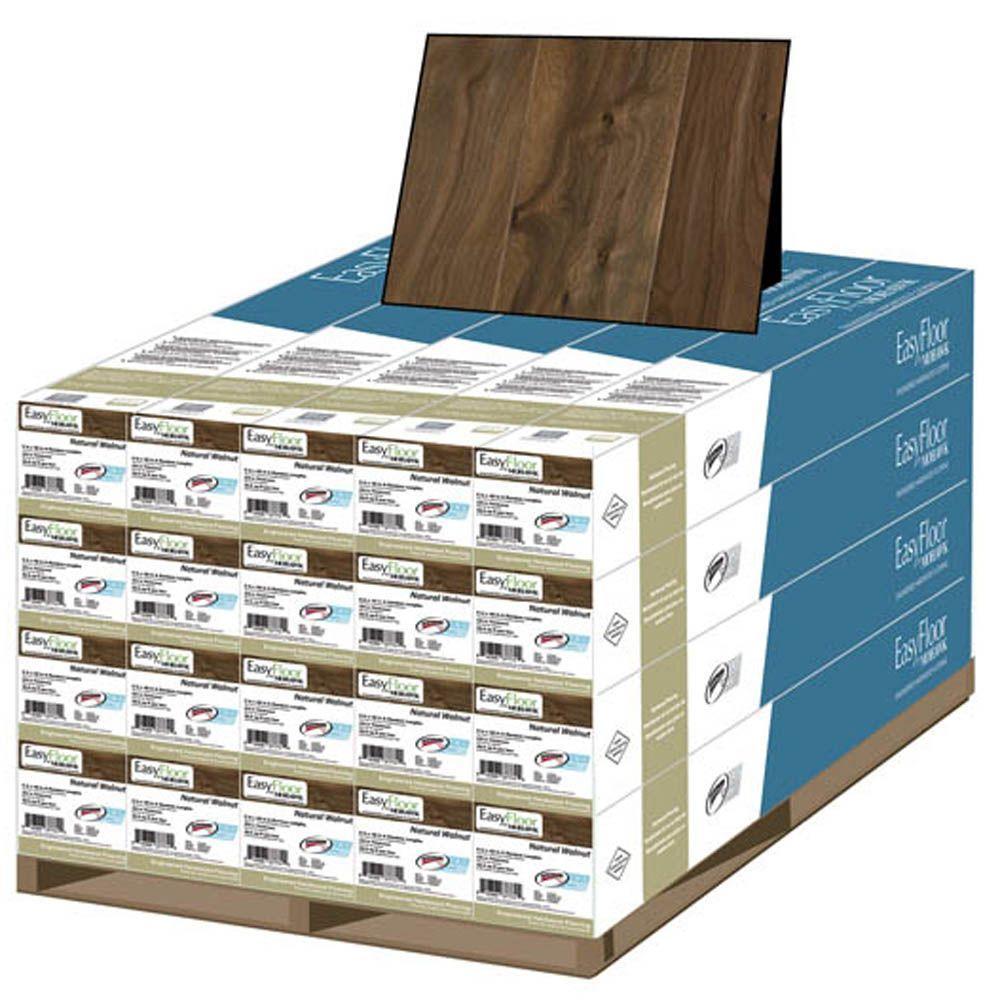 Mohawk Natural Walnut 1/2 in. x 5-1/4 in. x Random Length Soft Scraped Engineered Uniclic Hardwood Flooring (460 sq.ft./pallet)