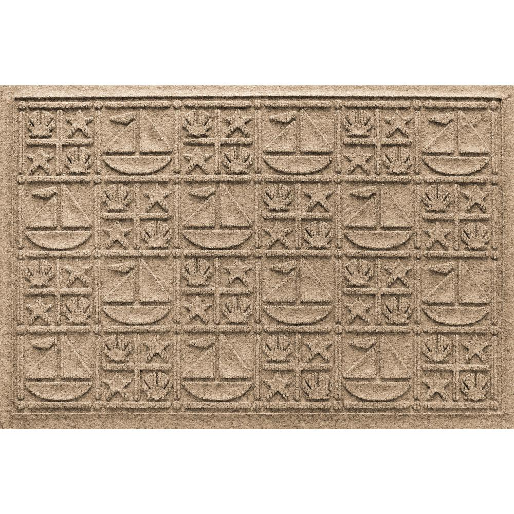 Khaki 24in x 36 in. Nautical Polypropylene Door Mat