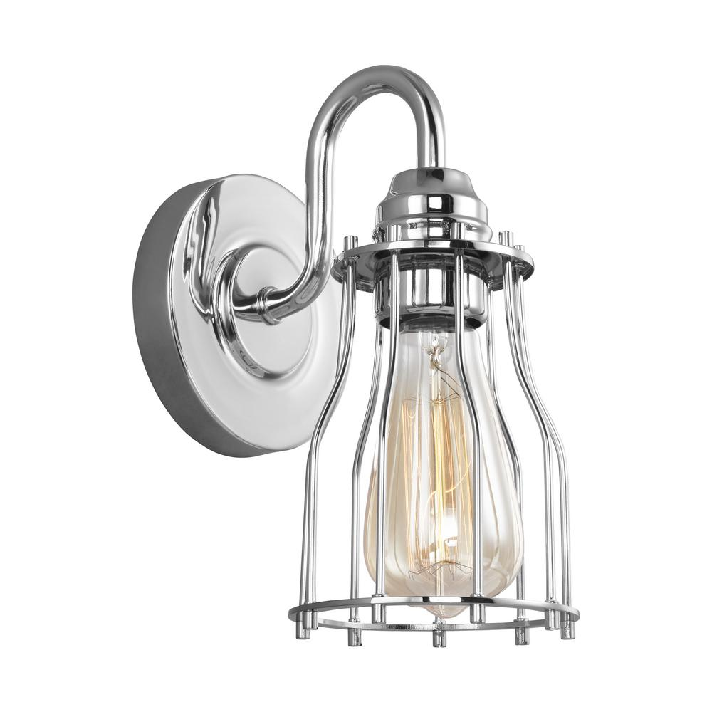 Calgary 1-Light Chrome Sconce