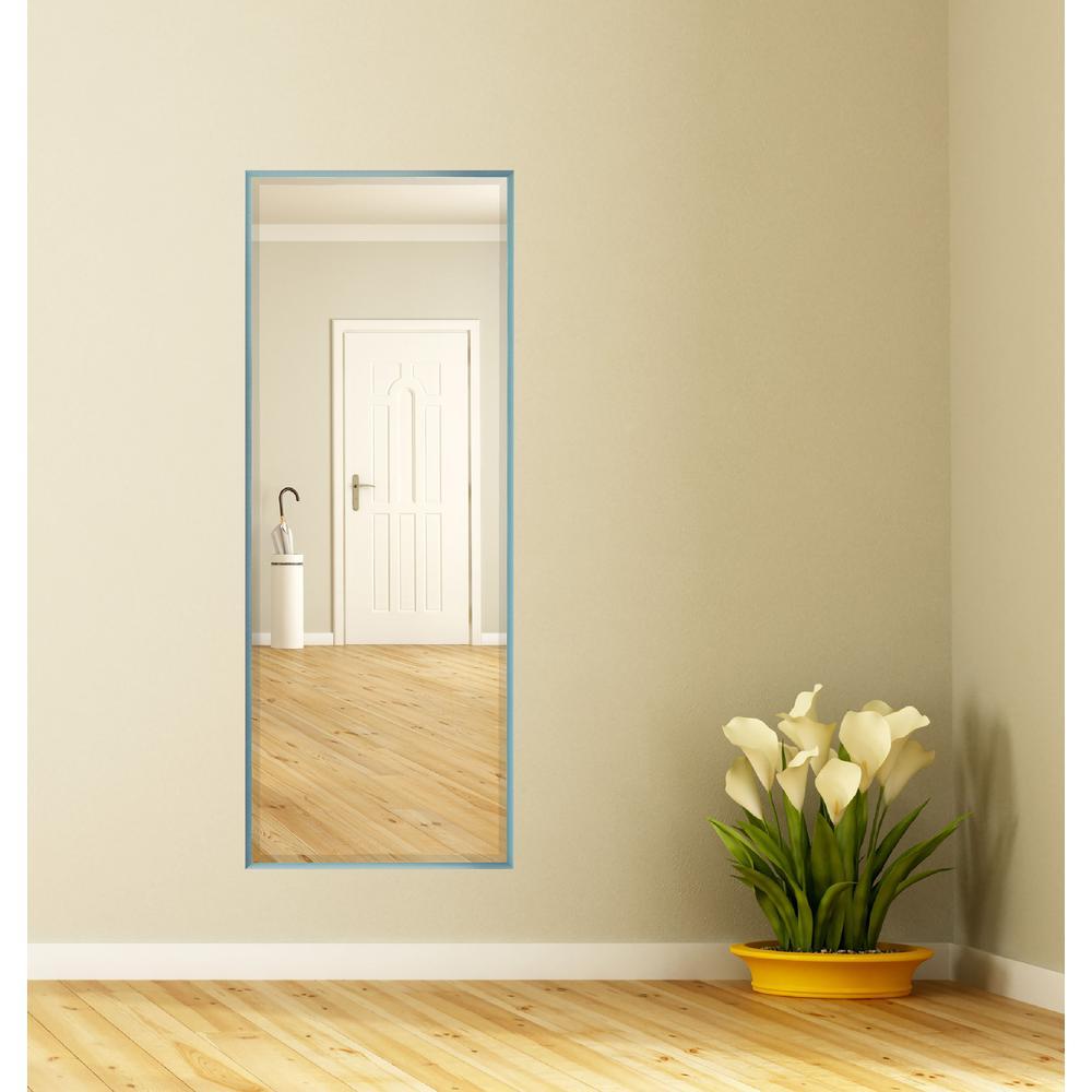 58.125 in. x 20.125 in. Robin's 's Egg Metal Framed Beveled Full Length Mirror