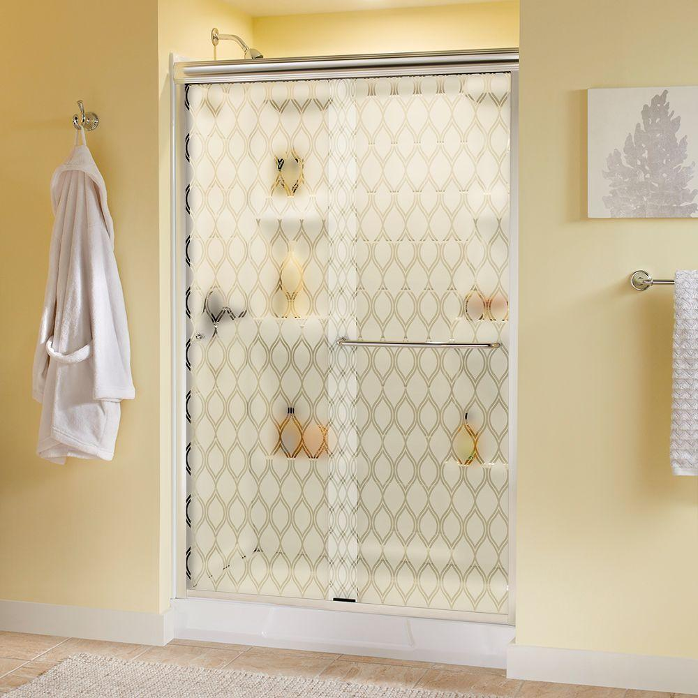 Delta Simplicity 48 in. x 70 in. Semi-Frameless Sliding Shower Door ...