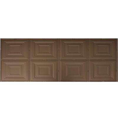 Dimensions Faux 2 ft. x 4 ft. Glue-up Tin Style Bronze Ceiling Tile for Surface Mount