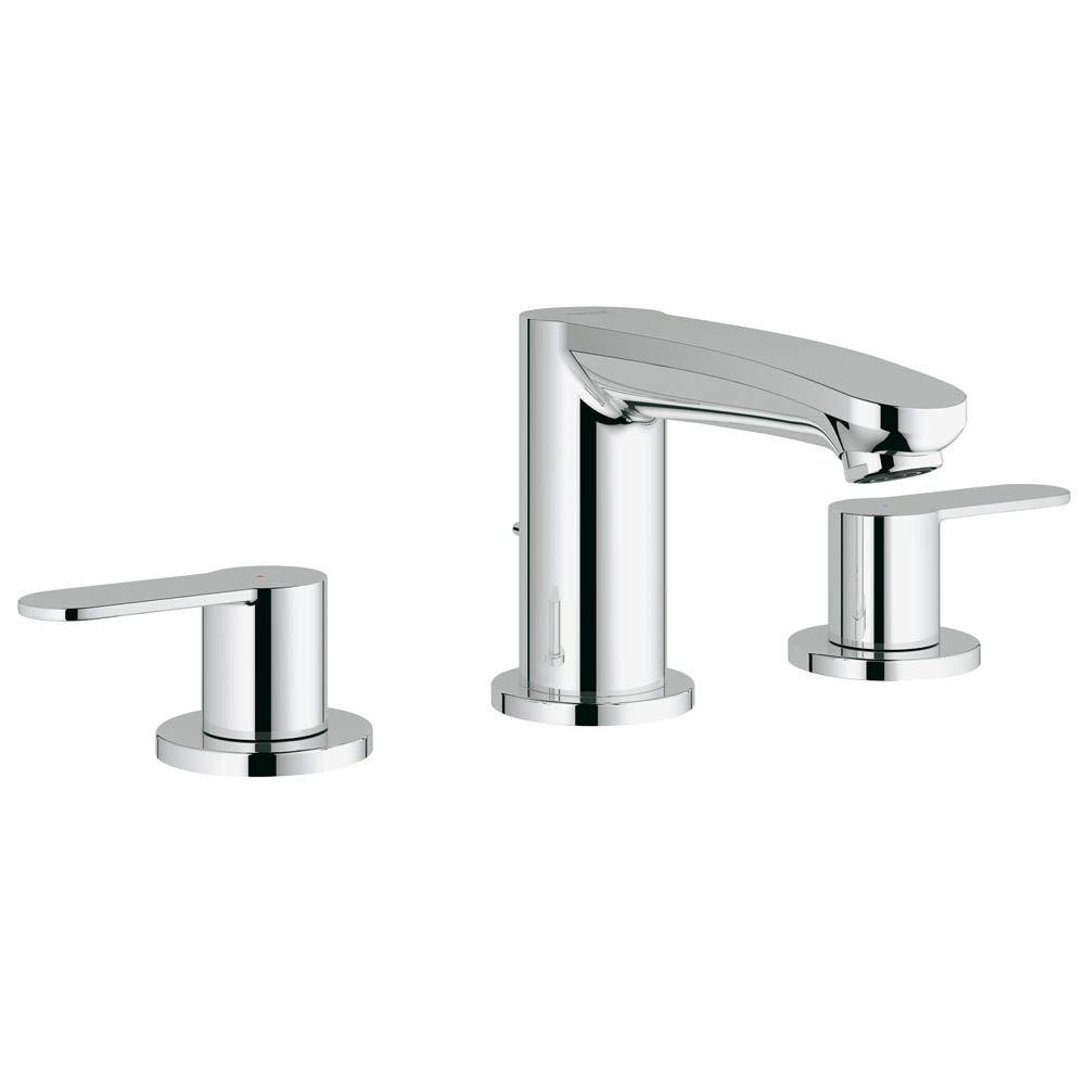 GROHE Eurostyle Cosmopolitan 8 In. Widespread 2 Handle 1.2 GPM Bathroom  Faucet In StarLight Chrome 2020900A   The Home Depot