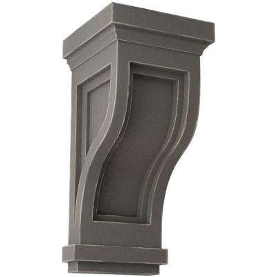 4-3/4 in. x 10 in. x 5 in. Reclaimed Grey Traditional Recessed Wood Vintage Decor Corbel
