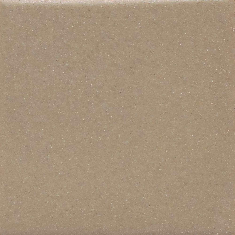 Semi-Gloss Elemental Tan 4-1/4 in. x 4-1/4 in. Ceramic Bullnose Wall