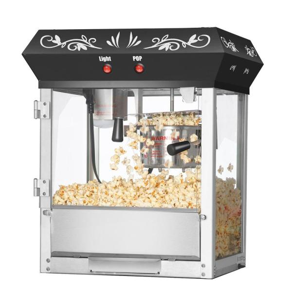 Great Northern Foundation 4 oz. Black Countertop Popcorn Machine