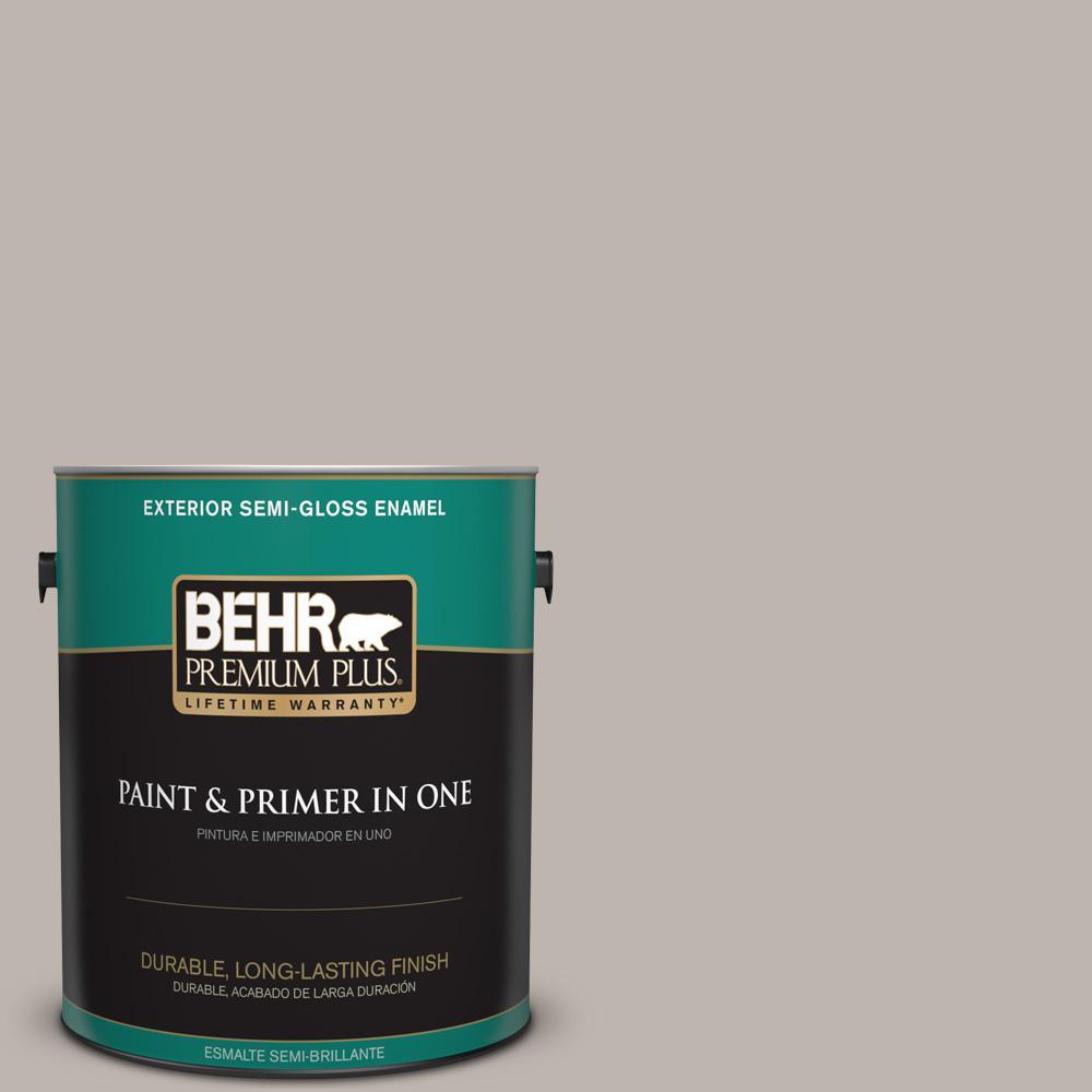1 gal. #PPU18-12 Graceful Gray Semi-Gloss Enamel Exterior Paint