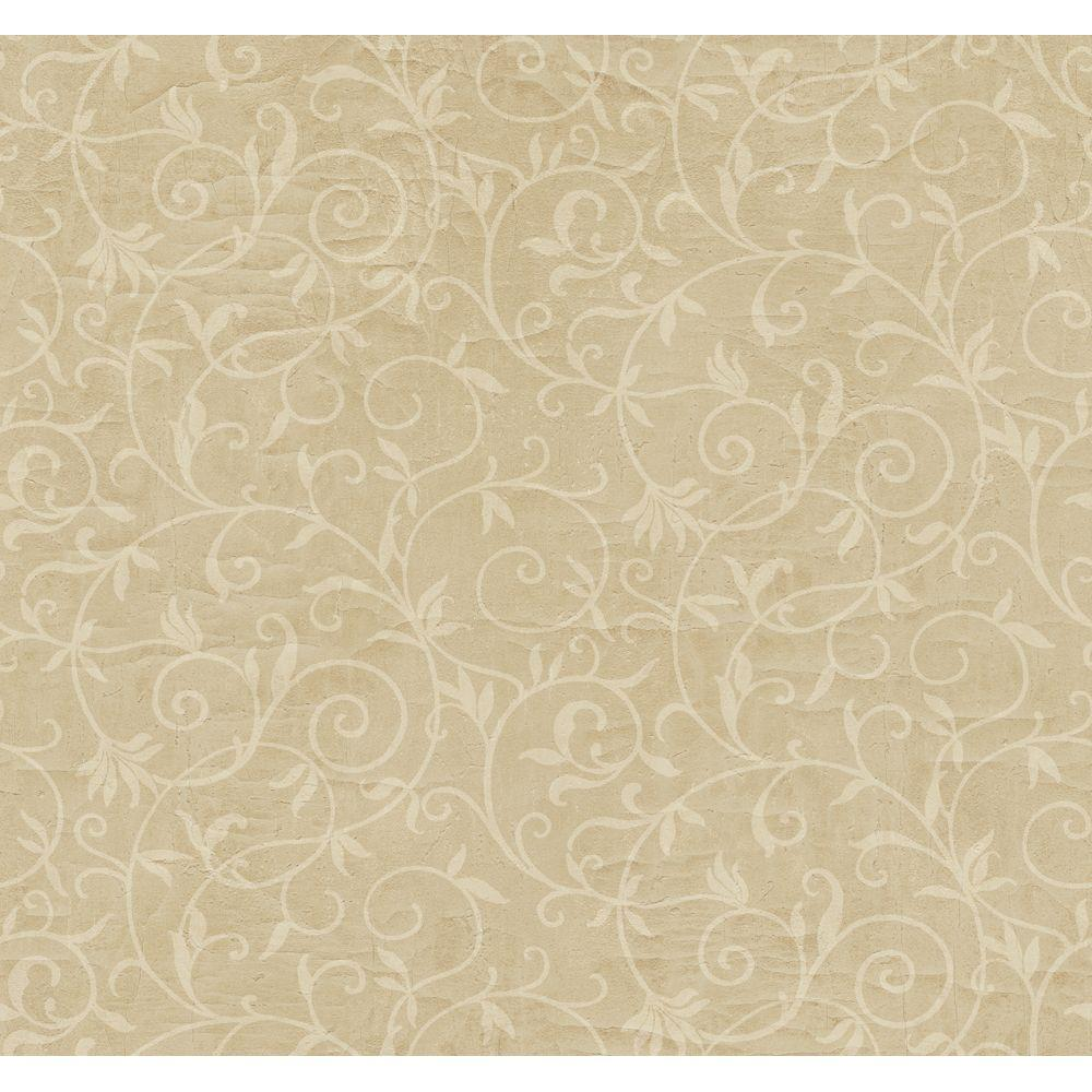 York Wallcoverings 60.75 sq. ft. Scrolling Layered Trails Wallpaper