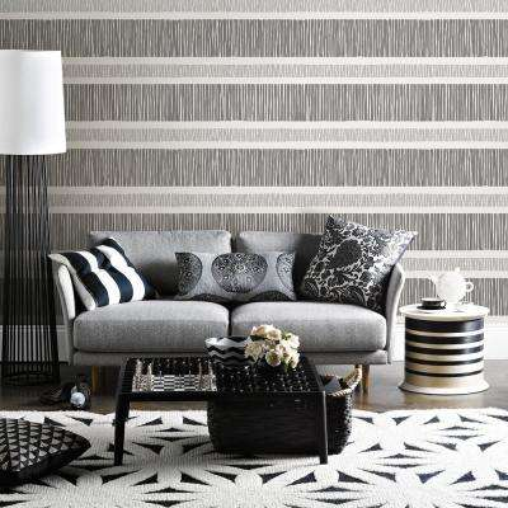 Gravity Black Stripe Wallpaper Sample
