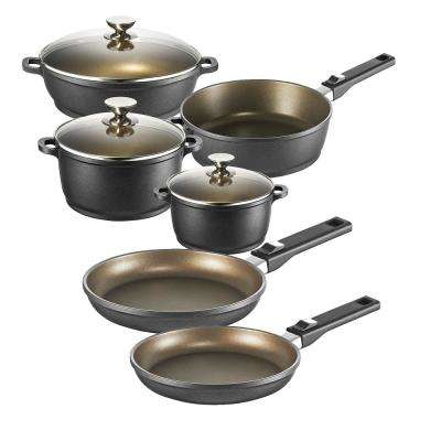 Vario Click Plus Induction 9 Piece Non-Stick Cookware Set with Lids